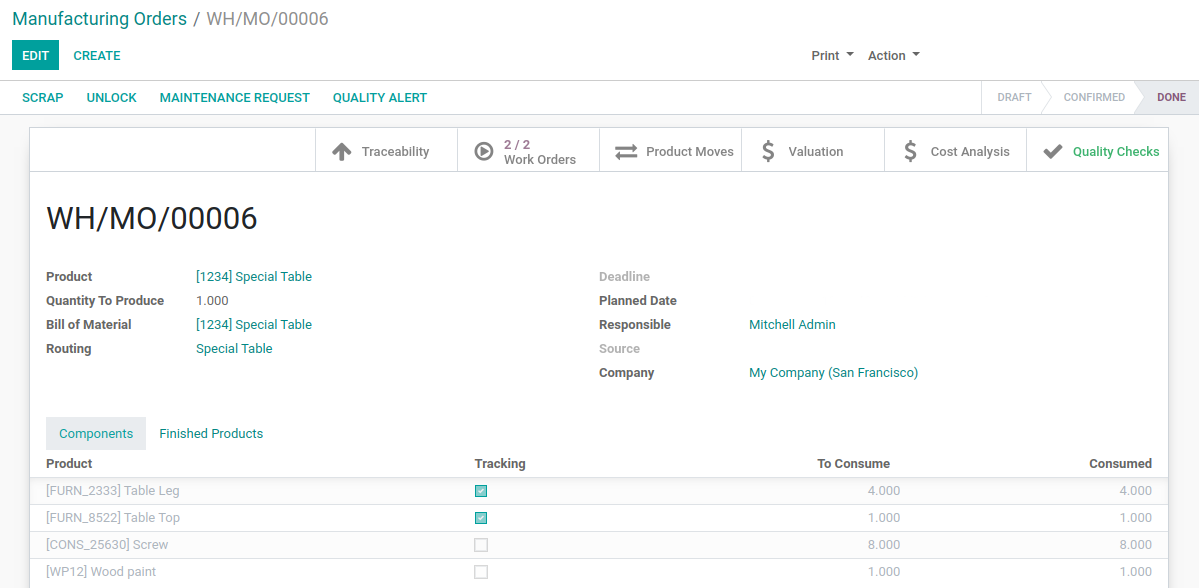 Odoo - Work Orders 10
