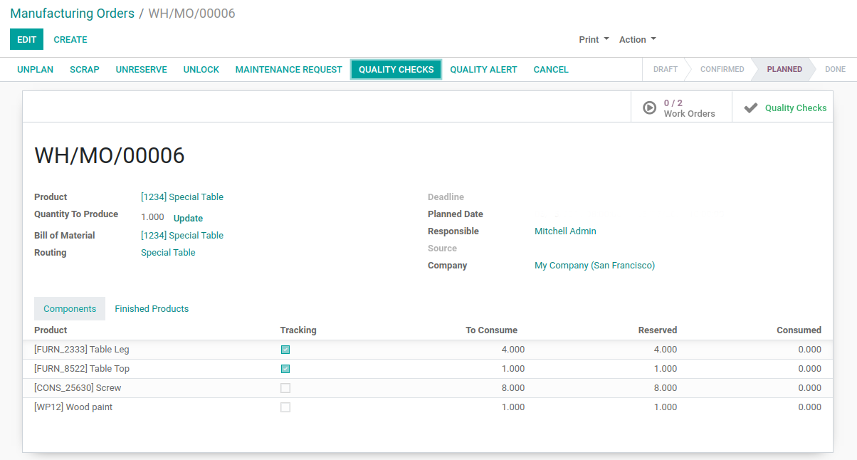 Odoo - Work Orders 5